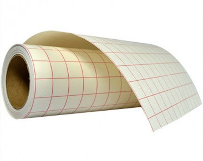 """12""""x 5yd Transfer Tape / High Tack Paper / Red Grid"""