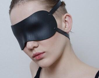 BDSM bondage leather blindfold eye mask