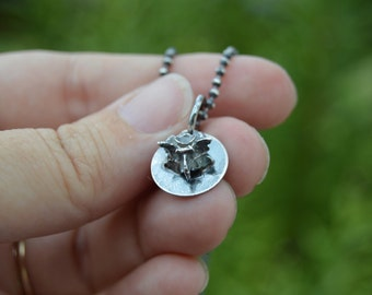 Bone stories – cast Vertebrae sterling silver necklace