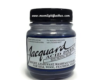 Feather, silk, wool, cashmere and Yarn Dyes - ROYAL BLUE Jacquard Acid Dyes - 1/2 Oz : 3731