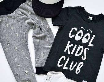 cool kids club tee, kids shirt, funny tee, boys and girls shirt, hipster kids clothing, trendy kids clothes, boys graphic tee, girls tee