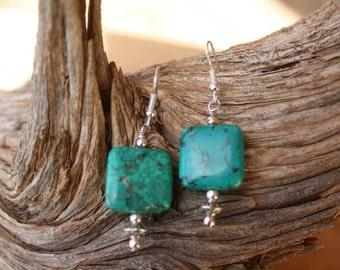 Turquoise and Dangle Earrings