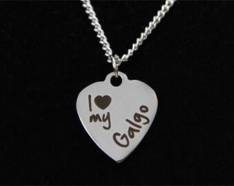 Galgo Necklace - Spanish Greyhound Necklace - Jewelry