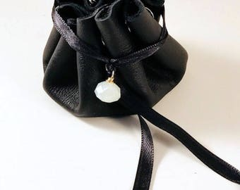 Leather Pouch,Leather Jewelry Holder,Jewelry Storage,Jewelry Bag,Travel Jewelry Bag,Ring Holder,Drawstring Bag,Leather Bag,Bridal Gift