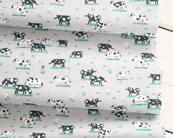 On The Farm - Cows(Cloud Grey Background) - Dear Stella Designs