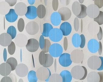 1.5 In. Blue & Gray Multi Colored Garland