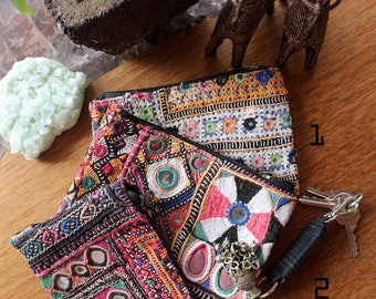 One Of A Kind Boho Purse, Banjara Tribal Boho Wallet, Embroidered Purse, Bohemian Gift, Festival Accessories For Women Gift