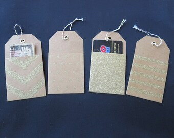 8 Kraft Pocket Tags - Grab Them While You Can!