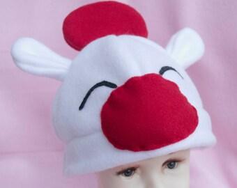 Moogle Baby Infant to 6 Month Fleece Hat Beanie Kawaii Cute Anime Cartoon Video Game Character Gamer Nerdy Children Childs Winter Cap Gifts
