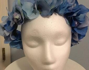 Flower Crown - Blue - Bright Floral Crown