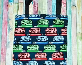 Nerditotes Handmade Handsewn Star Wars Lightsabers Tote Bag