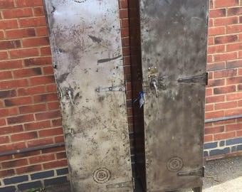 Vintage industrial steel locker/wardrobe