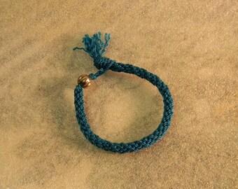 Turquoise Braided Kumihimo Bracelet