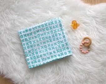 Geometric Gauze Swaddling Blanket - Double Gauze Baby Blanket - Swaddling Blanket - Baby Blanket - Nursing Cover - Made 4U Handmade Designs