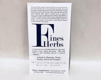 Fine Herbs - Seed Style Packet Envelope