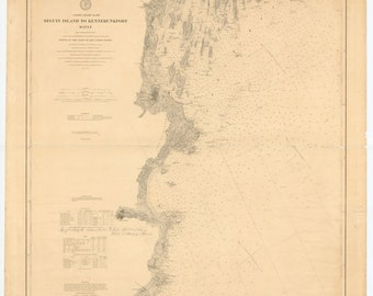 Seguin Island to Kennebunkport Map 1891