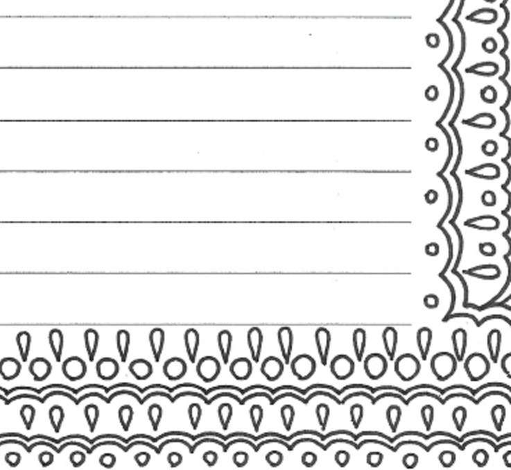Lined Stationery Paper Amusing Lined Writing Paper Stationery Page Printable Adult Coloring