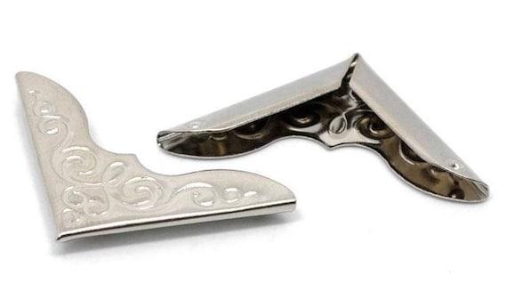 Set of 2 corners / angle - silver - size: 23 mm