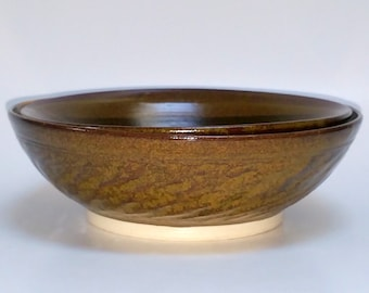 Burgundy and Golden Bowls - Small Bowls - Wheel Thrown Pottery