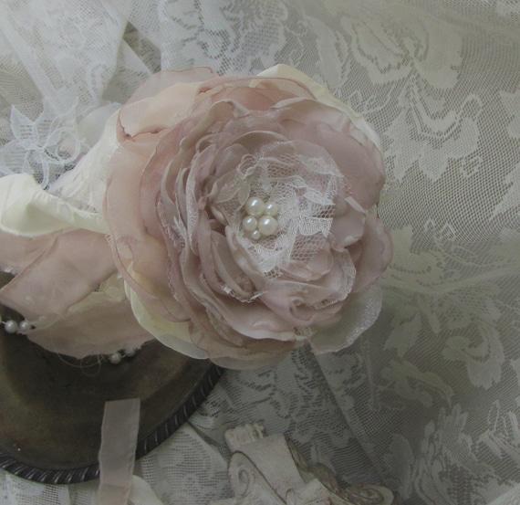 Flower Girl Bouquet Flower girl wand Blush Pink flowers