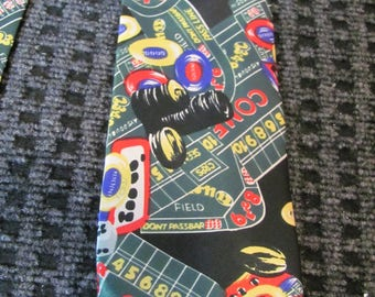 hollyvogue neckwear, retro, hipster, swing tie, necktie, vintage, neck tie, gambling, gangster, las vegas, novelty tie, roulette tie