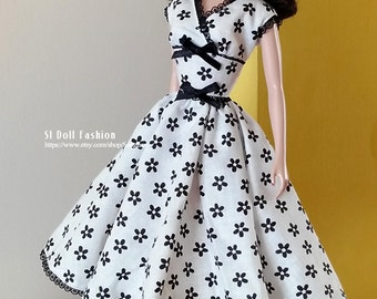 vintage dress PDF Pattern with instruction Download for Silkstone barbie Dolls