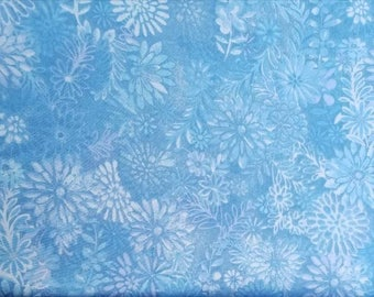 100 percent cotton batik fabric/light blue/quilting/apparel/crafts/by the yard