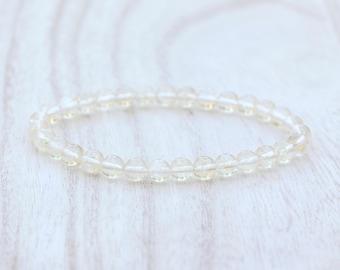 CITRINE Bracelet ABUNDANCE Bracelet Prosperity Bracelet Reiki Energy Gift for Her 6mm Citrine Bracelet Abundance Crystal Prosperity Crystal