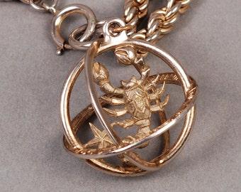 Trifari Scorpio Bracelet or Necklace - Trifari Zodiac Bracelet - Trifari Horoscope Bracelet - Vintage Bracelet