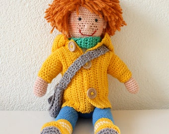 Crochet pop with red hair