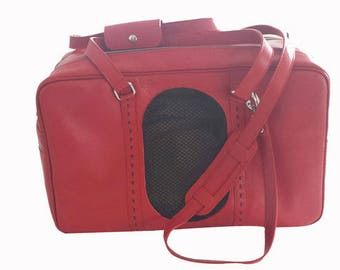Transport bag for dogs // Cats // Leather bag // Dog and cat carrier // For small dogs and cats