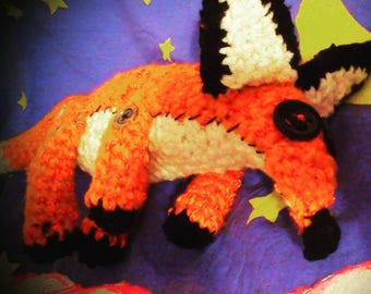 knitted Fox toy from the cartoon the little Prince
