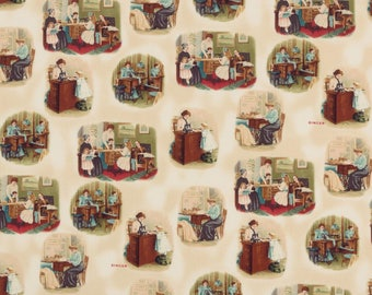 Singer Sepia Vintage Sewing Toile Robert Kaufman #5503 By the Yard