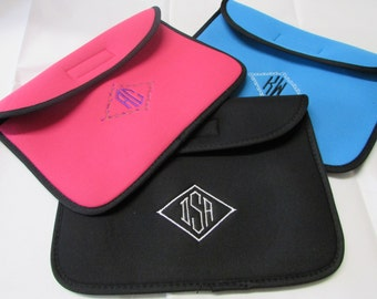 Tablet Sleeve Covers 8 or 10 inch monogrammed
