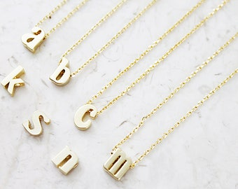 Lower case Charm Necklace Dainty and Delicate Letter Necklace  Alphabet Necklace Bridesmaid Gift Birthday Gift