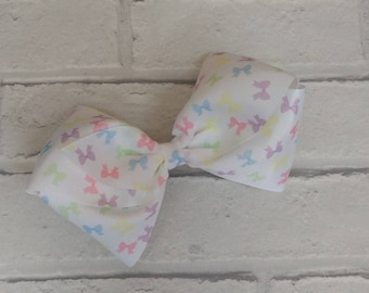 "Girls large 6"" inch Bow Print Boutique Hair Bow like JoJo Siwa Bows Signature keeper dance moms"