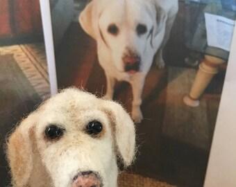 Hand Needle Felted Dog Shelby