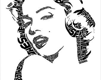 Marilyn Monroe Type Print