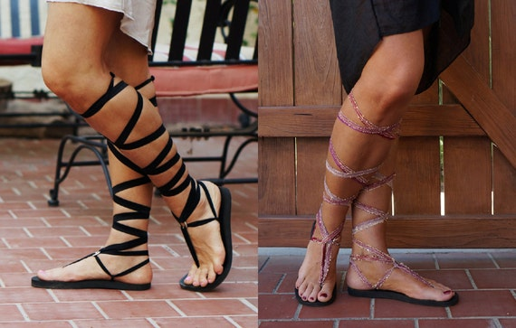 pair chic vegan laces Lace boho Gladiator Interchangeable eco with Up recyclable with TWO friendly Sexy Sandals sandals soles of YwSP7