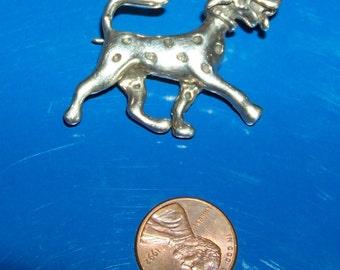 Vintage sterling silver dog pin Dalmation