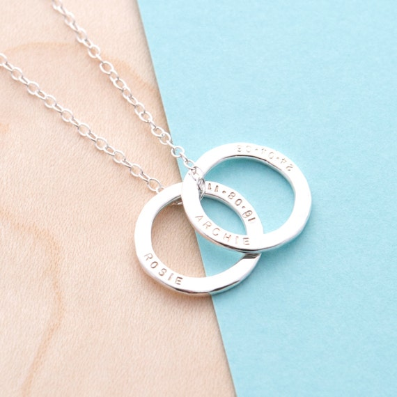 Personalised Small Circle Necklace