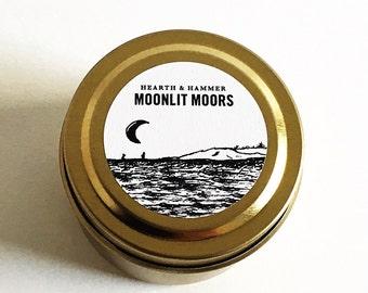 Moonlit Moors Travel Tin Literary Candle