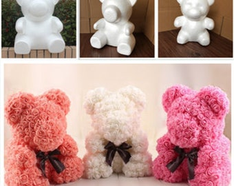 19  x 17 x 11 cm Unfinished Foam Bear /wedding / Mother's day accessories (th.g)