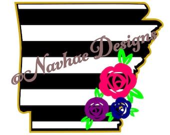 Arkansas Flower SVG