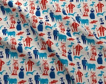 Minnesota Fabric - Minnesota Icons By Cindylindgren - Paul Bunyan Viking Folk Tales Hero History Cotton Fabric By The Yard With Spoonflower