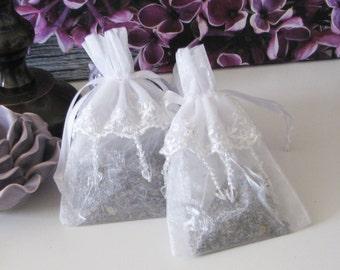Elegant White Lace French Lavender Sachets