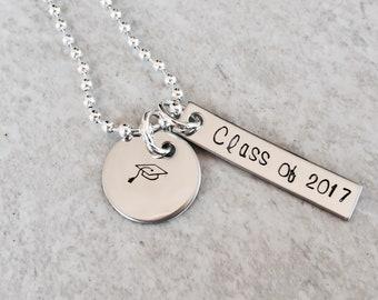 Graduation jewelry class of 2018 2019 2020 custom graduation gift graduation cap gift for graduation custom monogrammed jewelry initial