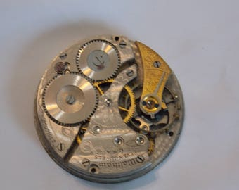 Antique 42mm Etched Pocket Watch Movement