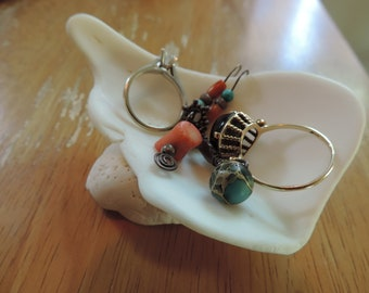 Unique Seashell and Conch Shell Ring and/or Jewelry Holder