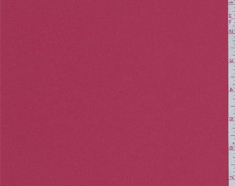 Carmine Red Polyester Charmeuse, Fabric By The Yard